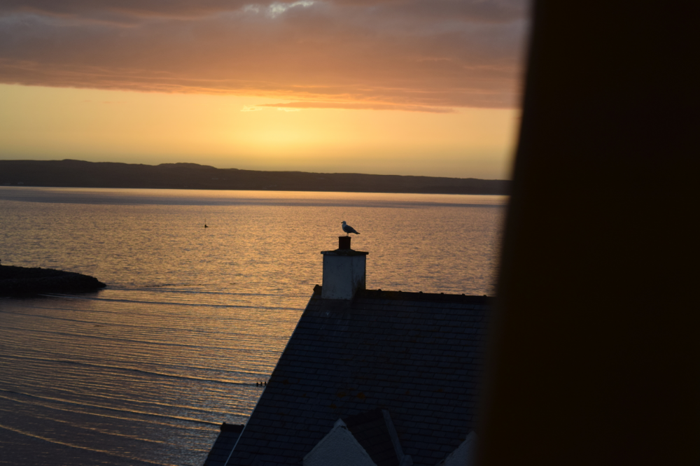 ASW Distillery - Atlanta craft whiskey & brandy distillery - Islay Scotland sunset from the Bowmore House Bed & Breakfast