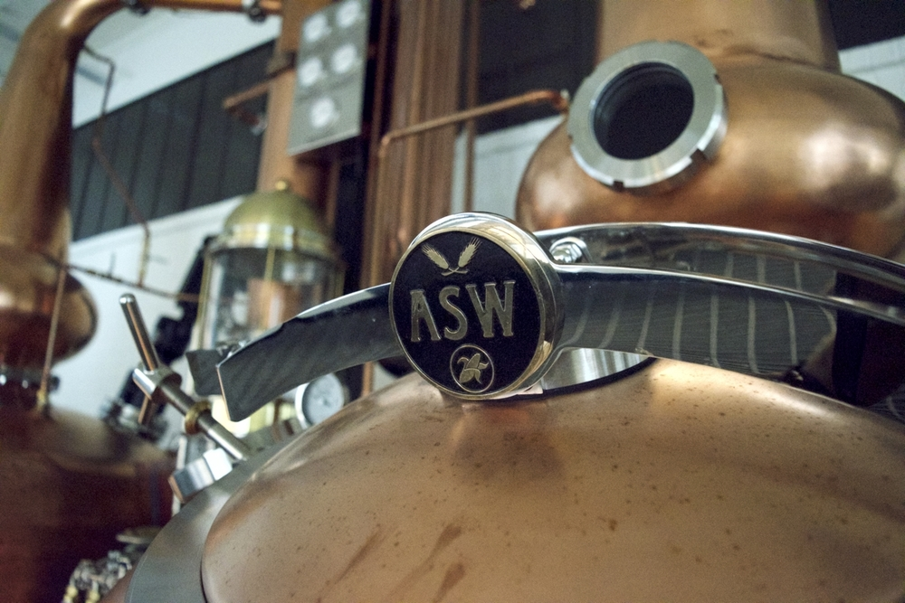 ASW Distillery - Atlanta craft whiskey & brandy distillery - Vendome pot still top