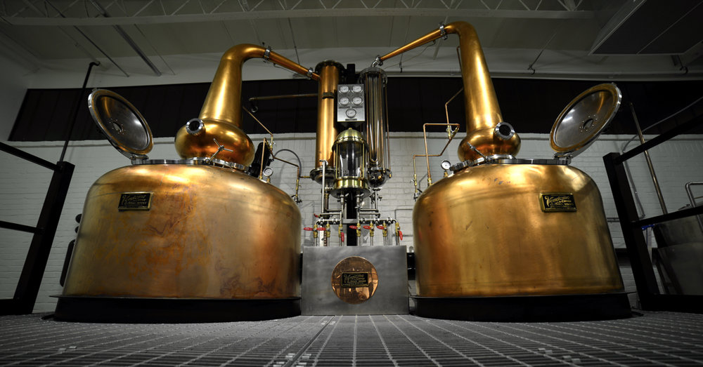 Our Handcrafted Double Copper Pot Stills