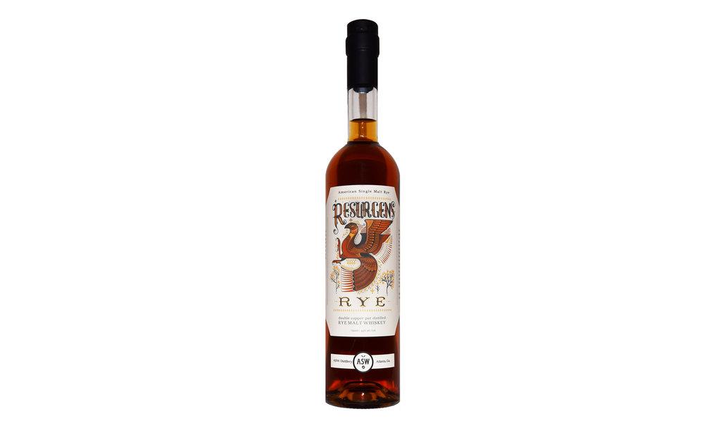 ASW Distillery - Atlanta's hometown craft bourbon rye whiskey distillery - Resurgens Rye botle shot white background 1920x1200.jpg