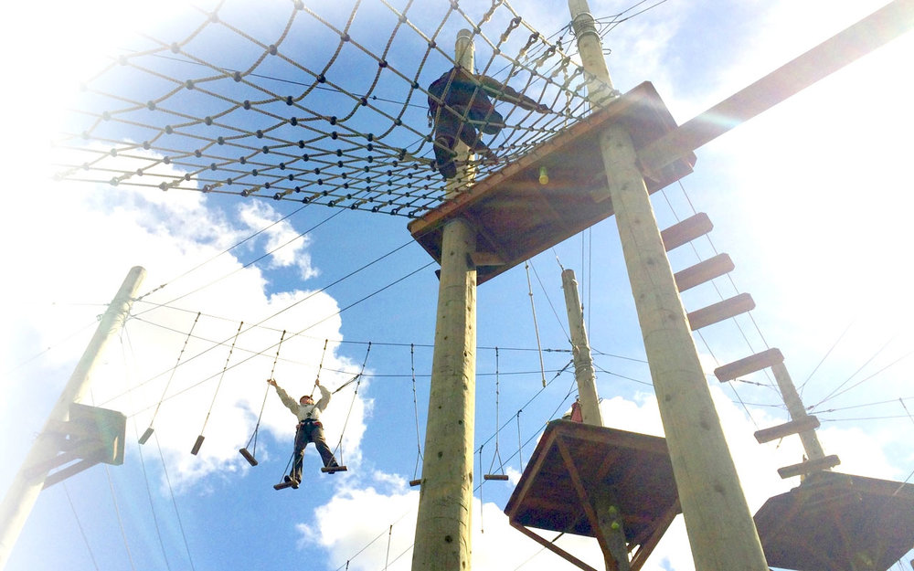 Aerial Adventure Parks   Balance Challenge & Play    Learn More