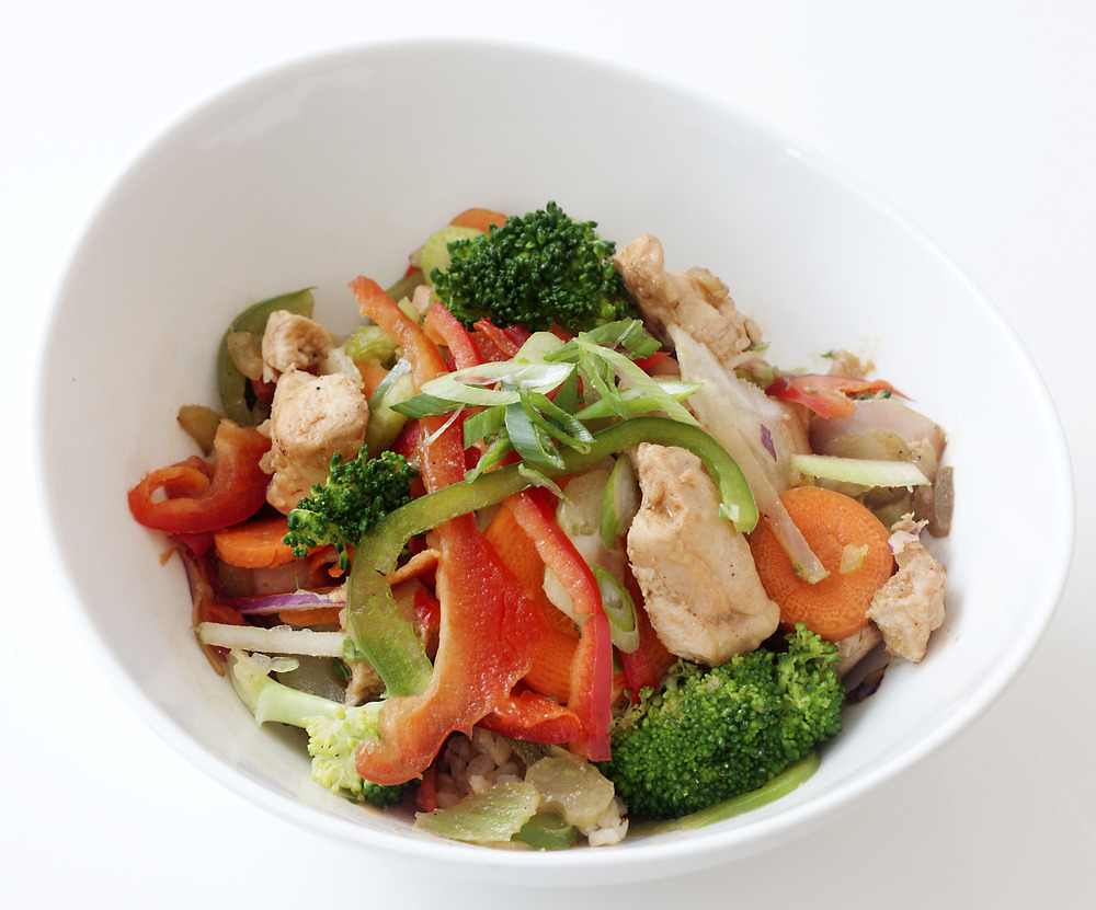 Chicken, Peanut & Lime Rice Bowl