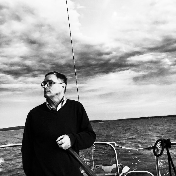 The old (er) man and the sea. Dad. #blackandwhite #dad #donkeykong #stamfordyachtclub ❤ (at Greenwich, Connecticut)