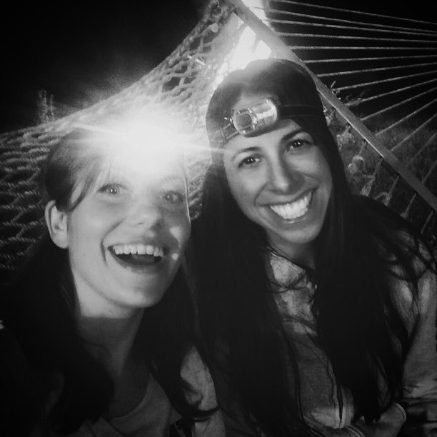 You don't have to have anything in common with people you've known since you were five. With old friends, you've got your whole life in common. -Lyle Lovett #besties #madfamilybesportingtheseheadlamps #hammock #headlamps #thebestofthebest (at Endolane Farm)