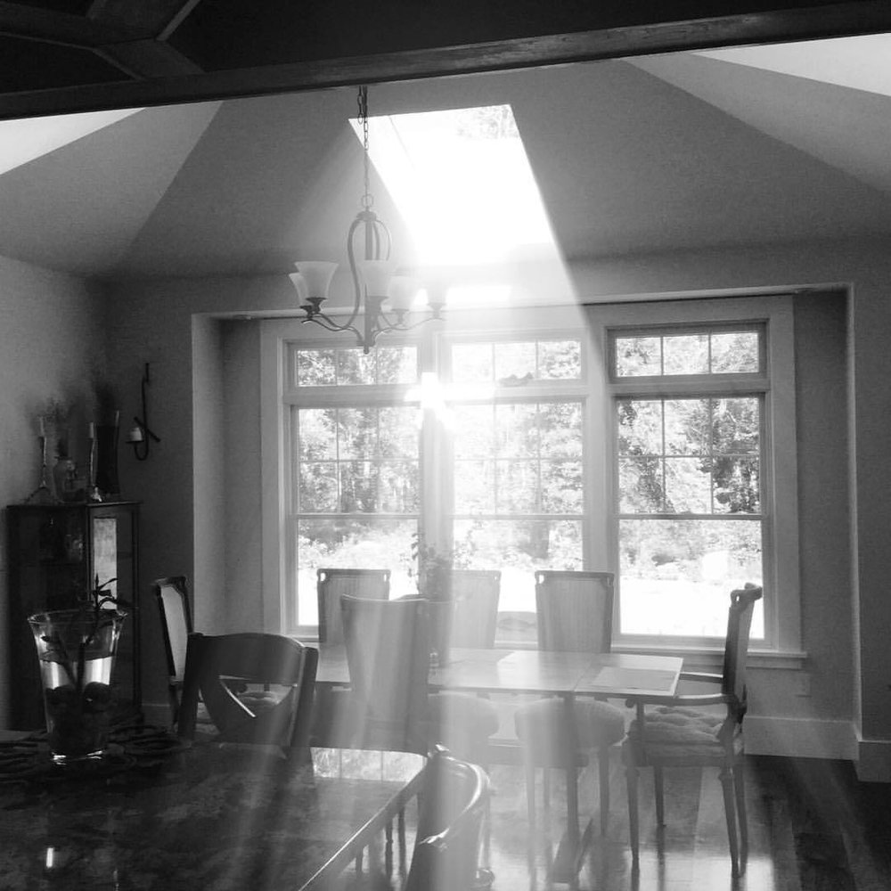 I mean….. I got some light in my life. #kitchen #skylights #geothermal #isthatyougod? #blackandwhite
