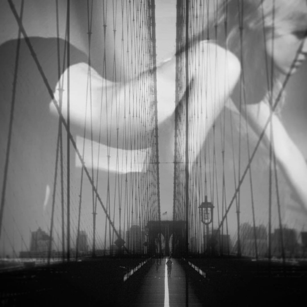 The girls are on top. #paintedbylight #blackandwhite #brooklyn #nyc