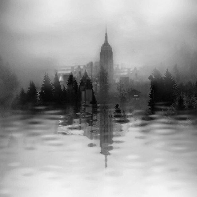 Perhaps I seek certain utopian things, space for human honour and respect, landscapes not yet offended, planets that do not exist yet, dreamed landscapes.    Werner Herzog #paintedbylight #blackandwhite #nyc #wherearewenow #doubleexposure