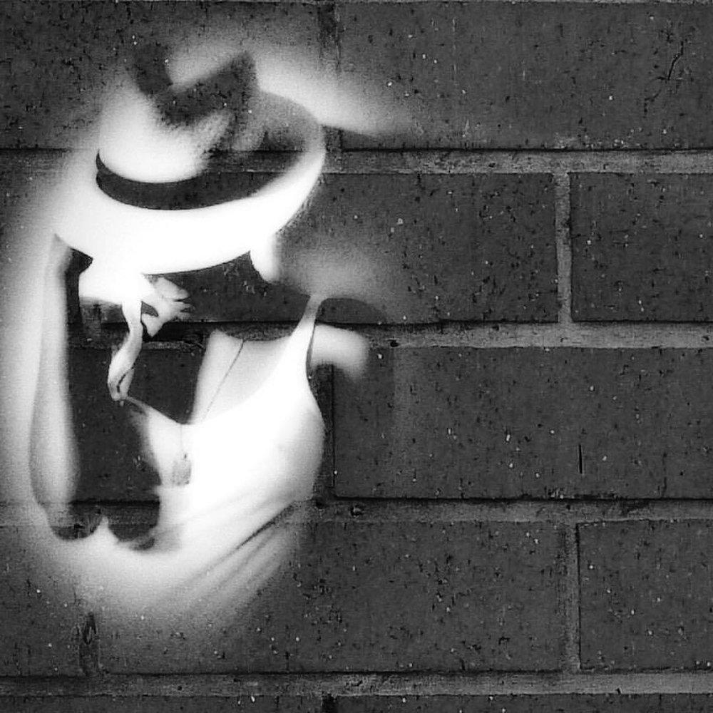 Oh, hello, Friday #happyweekend #hello #adele #blackandwhite #paintedbylight #doubleexposure #brick #nyc