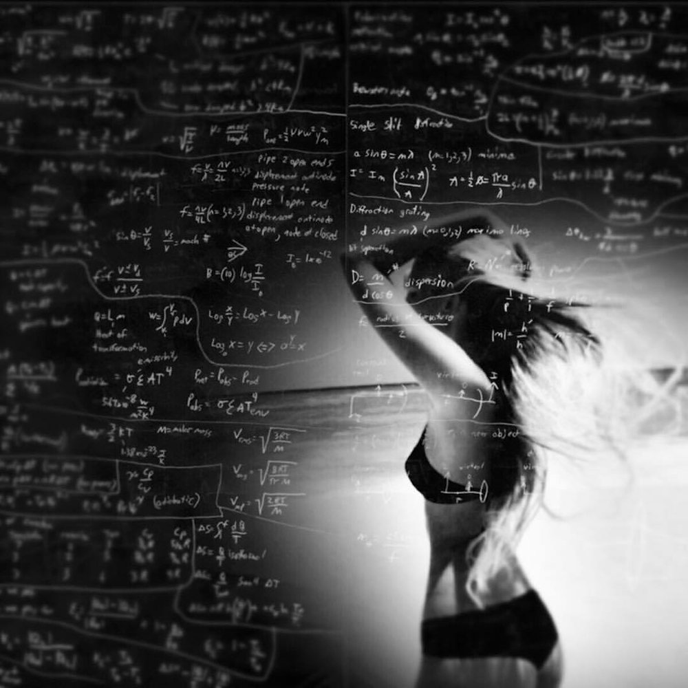 Maths #doubleexposure #paintedbylight #blackandwhite