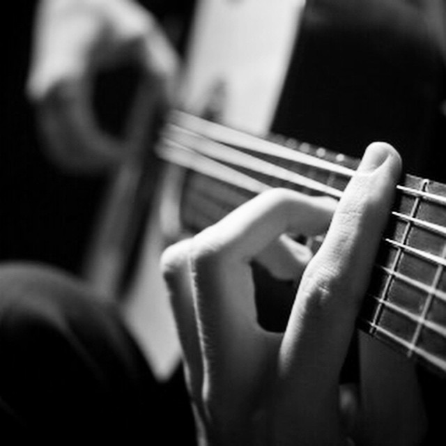 While my guitar gently weeps #paintedbylight #blackandwhite  http://ift.tt/1EonwtB