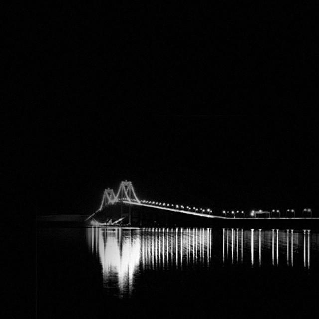 Newport. #newportbridge #ri #contrast #blackandwhite #night  http://ift.tt/1C3ipgx