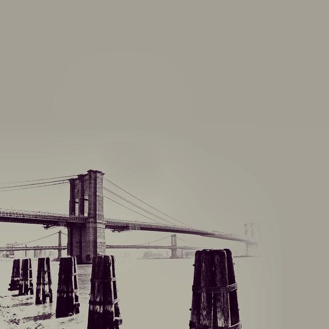 Haze for days. Photo by @travisr401, edit by me. #paintedbylight #blackandtan #nyc #Brooklyn #bridge  http://ift.tt/1386Fyj