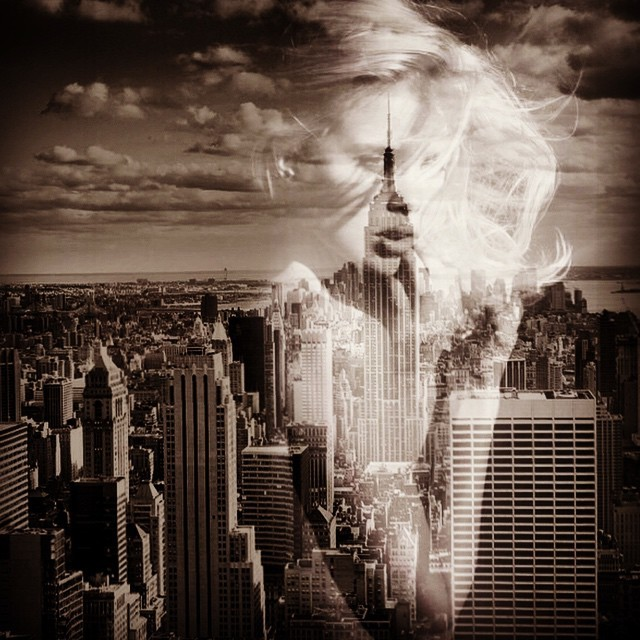 Give my regards to Broadway #paintedbylight #blackandtan #nyc #double  http://ift.tt/1wU68qX
