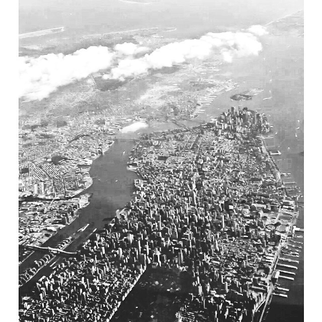 NYC from above #inflight #nyc #pilot #shotSfromthesky
