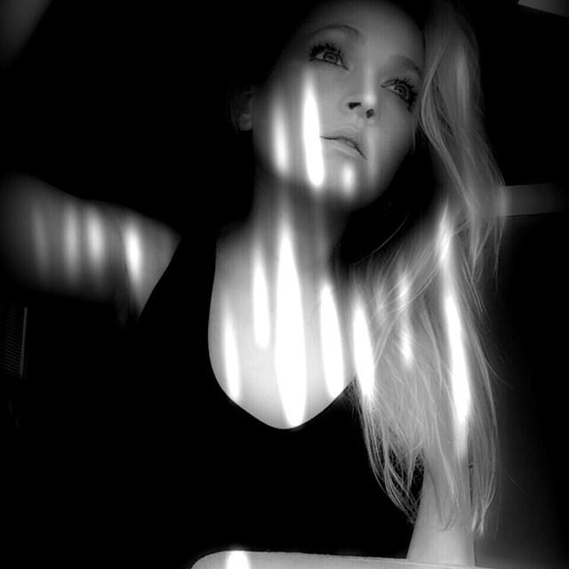 Tonight's light. June 2, 2014. Have a beautiful evening all!! #blackandwhite #blinds #twilight #dusk #noir #monochrome