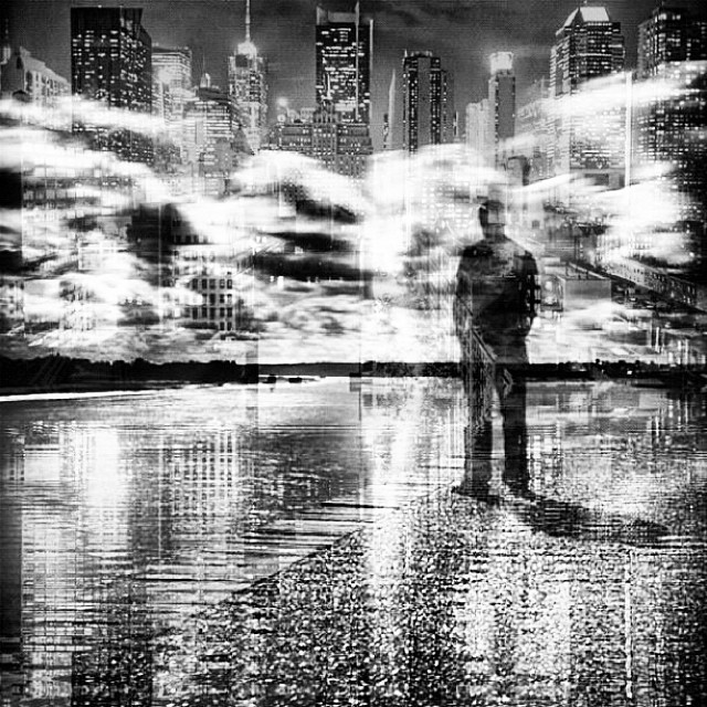 Bright lights big city #nyc #blackandwhite #doubleexposure #monochrome