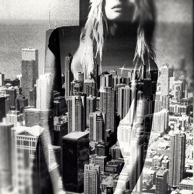 NYC and me. #blackandwhite #noirvue #paintedbylight #monochrome #noir #doubleexposure  (at alternate area)