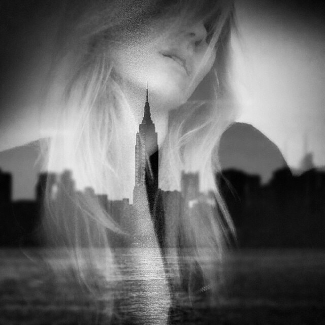 Mixing it up with @sines #empire #blackandwhite #doubleexposure #nyc #noir #noirvue #monochrome #paintedbylight #brooklyn