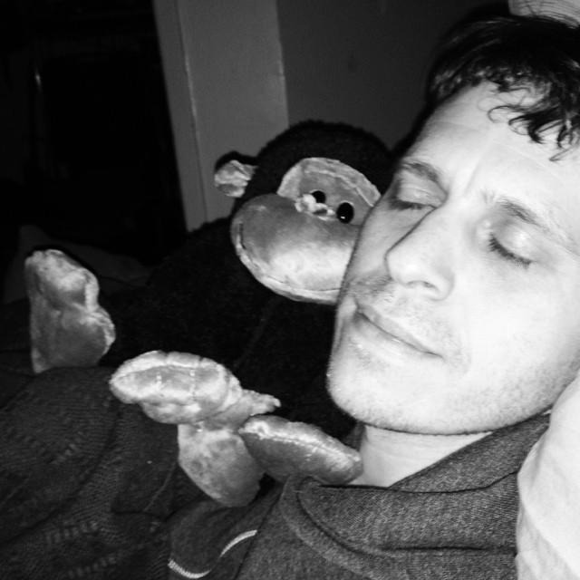 Brothers #blackandwhite #myboyisamonkey #brooklyn #sickbaby #thishappened #justanothersaterday #vegan #monkey #boyfriendsandtheirtoys