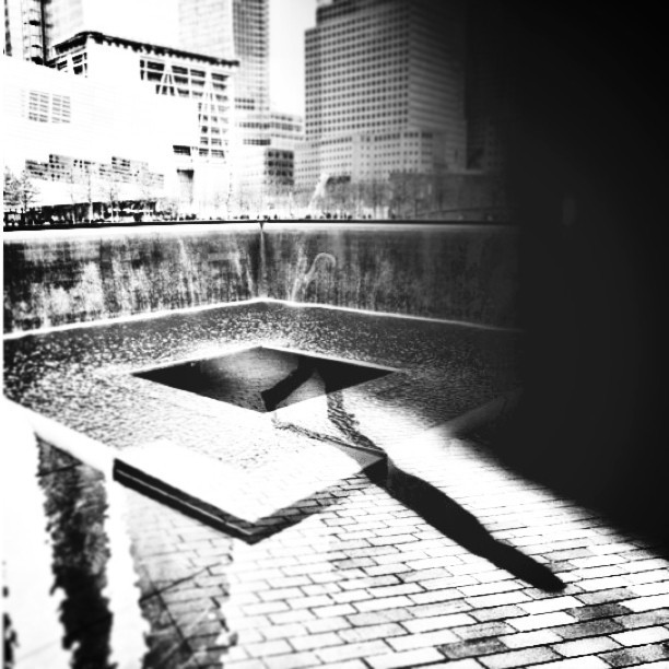 Double exposure eeriness downtown #nyc #noir #blackandwhite