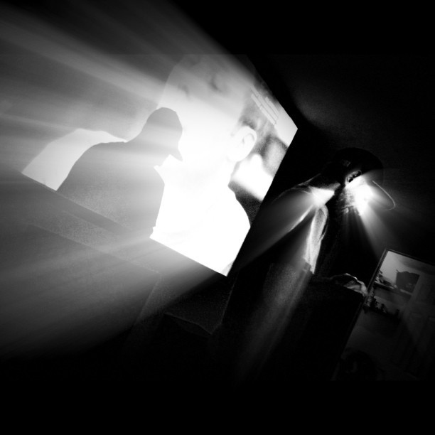 Shadow play with jay #monochrome #dj #brooklyn