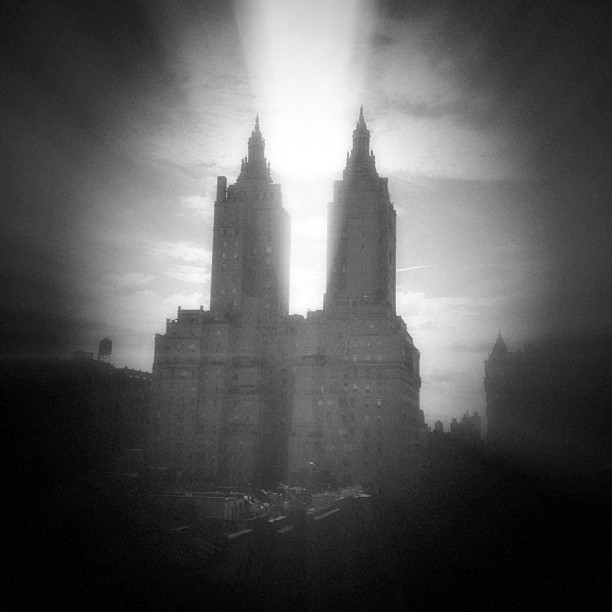 Dawn at the Dakota. #gotham #nyc #noir #blackandwhite