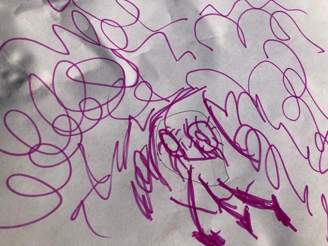 Self-portrait, Rosie, Age 4