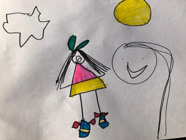 Self-portrait, Lucy, Age 5 1/2