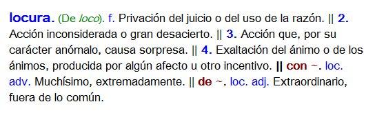 definicion locura