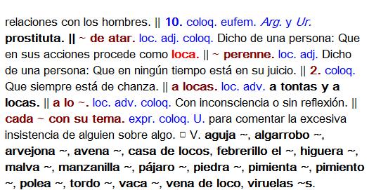 definicion loco 2