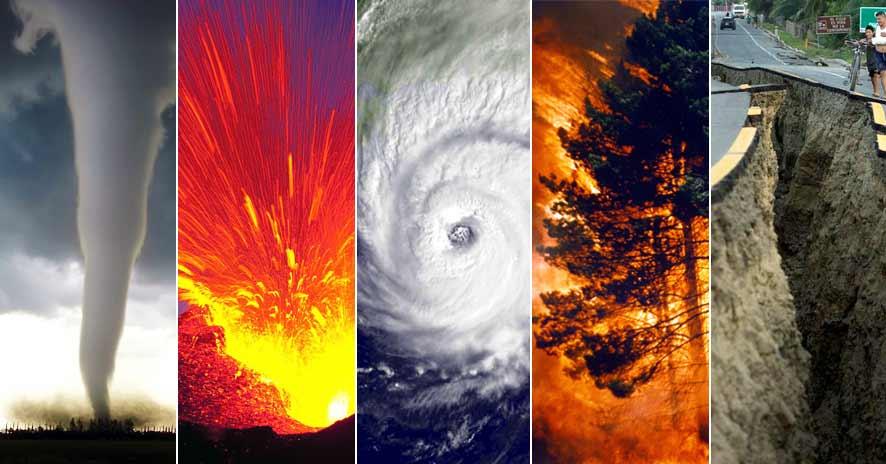 Ejemplos de desastres naturales