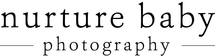 updated logo for nurture baby photography