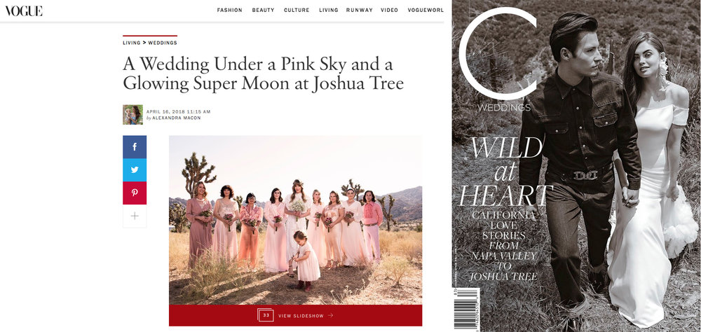 FEATURED - Christopher & Ashley's desert wedding featured in Vogue and C. Weddings Magazine.