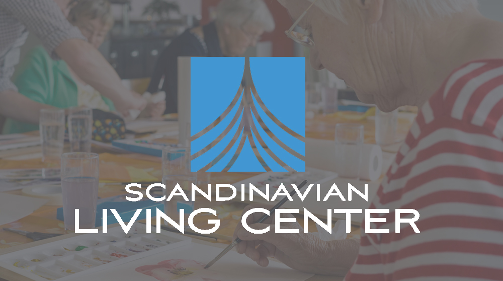 This ships prow, shown in a square box and moving through the water, uses clean lines—reflecting Scandinavian design—with a fresh and dark blue (or red for a little more pop in the cultural center), combined with a modern font.  The prow symbolizes both the passage of time and traditions, as well as the continuing uplifting journey through life. More abstractly the icon has been said to resemble the Zakim bridge—establishing both their location in the Greater Boston area and symbolizing a connection between different people. The new logo embraces a fresh, modern, easily manipulated design while honoring the organization's Scandinavian heritage.