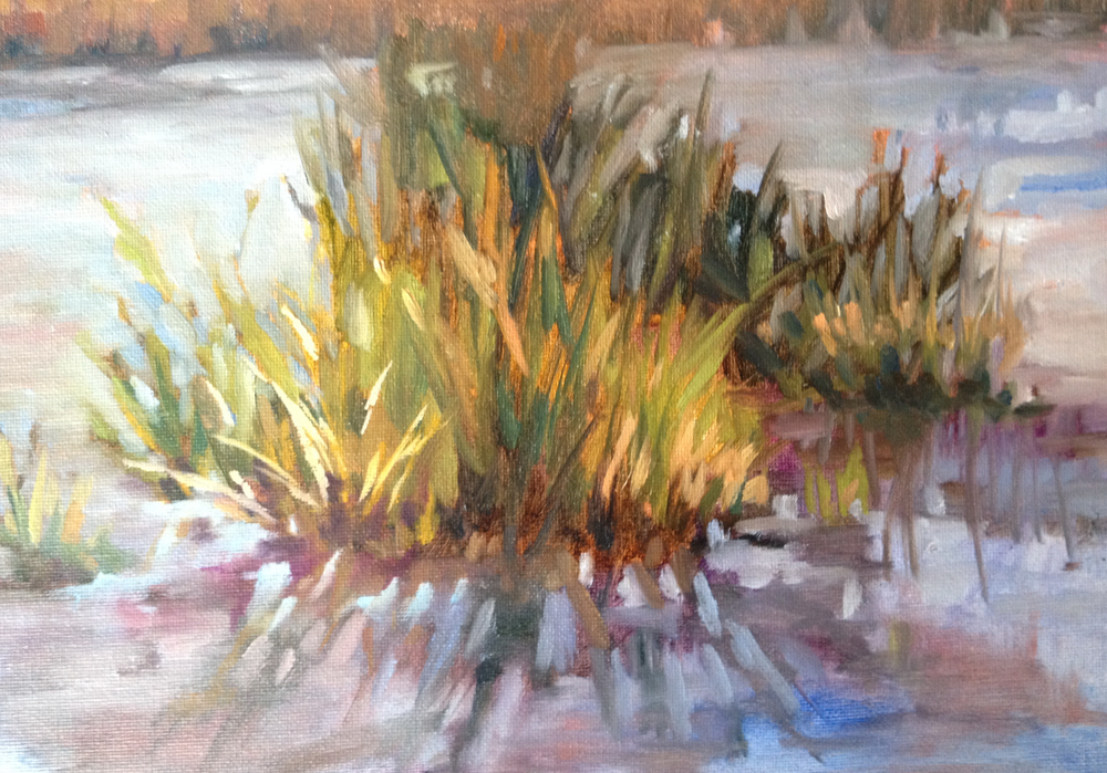 A Bundle of Reeds - 9x12 oil