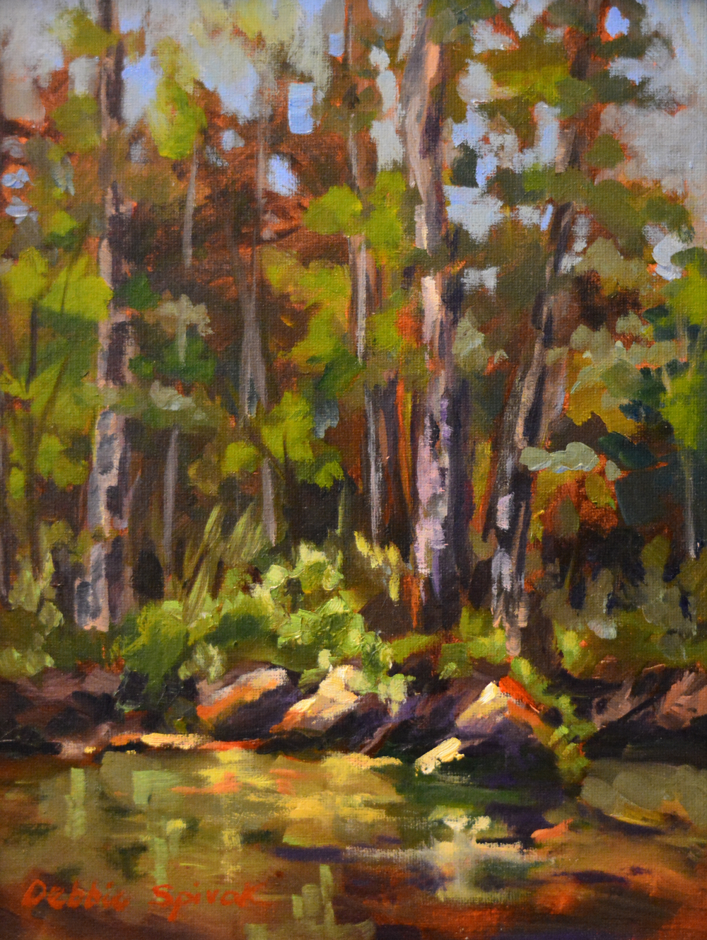 An Evening at Fish Creek - 9x12 oil
