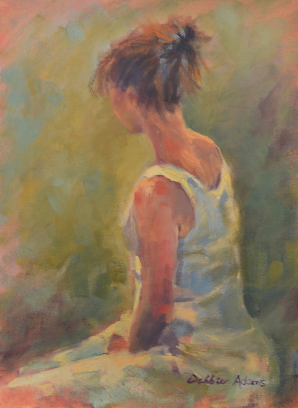 Her White Dress - 16x20 oil