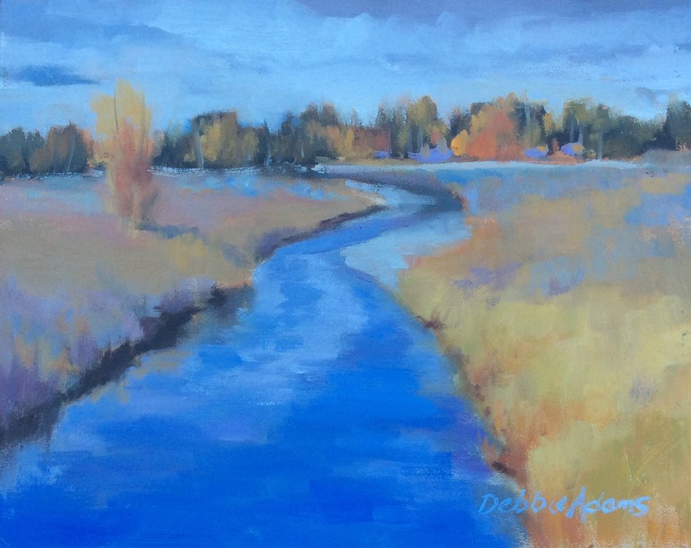 Autumn at Fish Creek 8x10 Oil