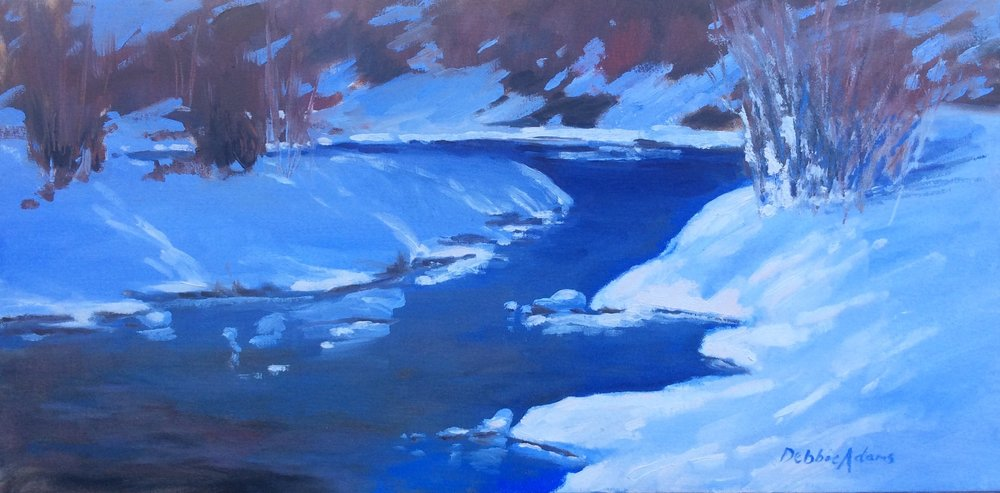 A Walk Along the Elbow 12x24 Oil