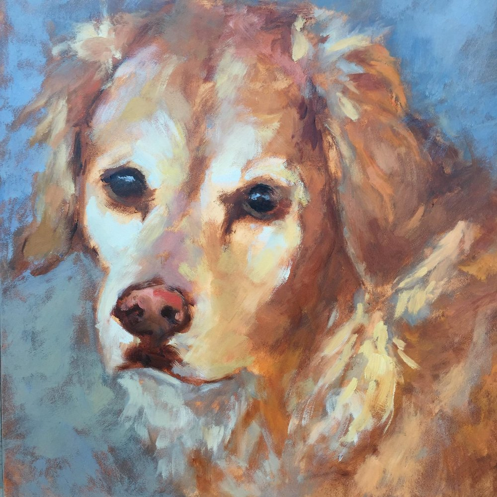 My Girl 12x12 Oil