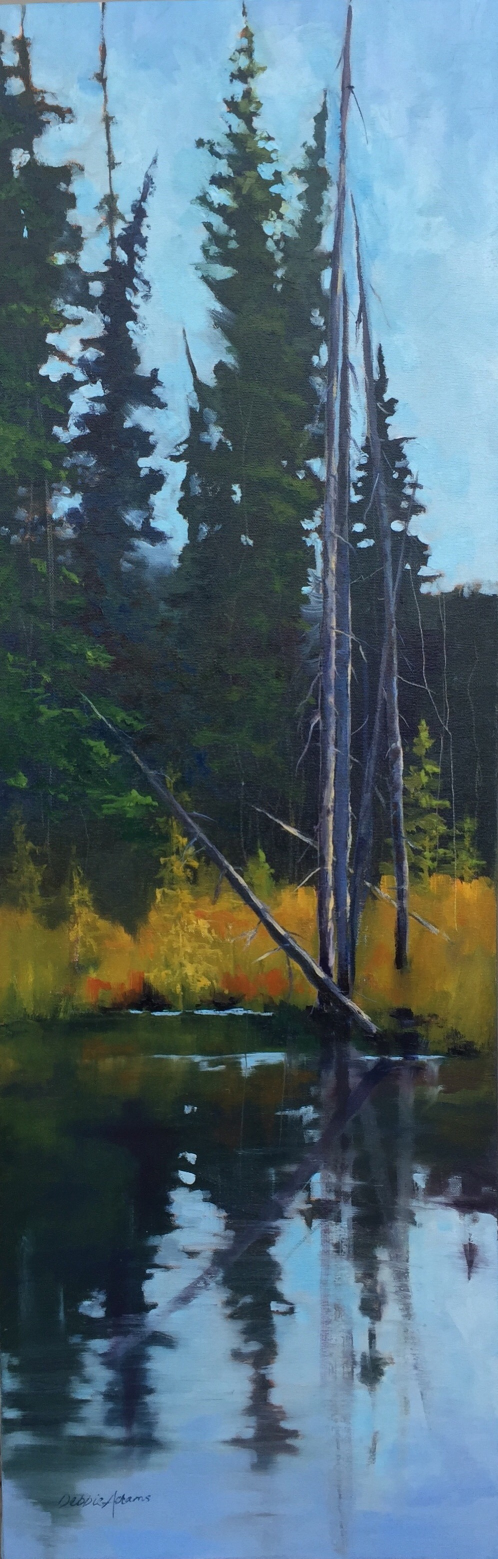 Mountain Marsh - 12x36 oil