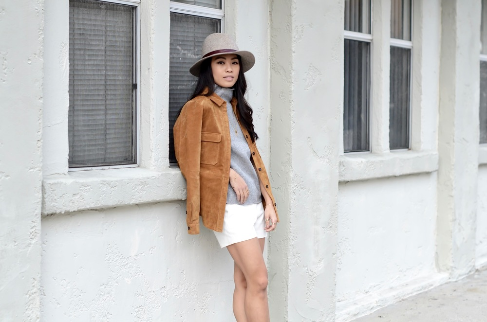 Just Goh With It-Outfits-Suede-jacket-mockneck-hat-chloe-fringe-sandals-5.jpg