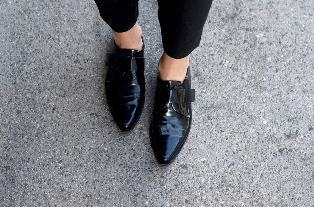 Just Goh With It-Outfit-zara-black-lace-top-gap-pants-max-mara-coat-cape-celine-4.jpg