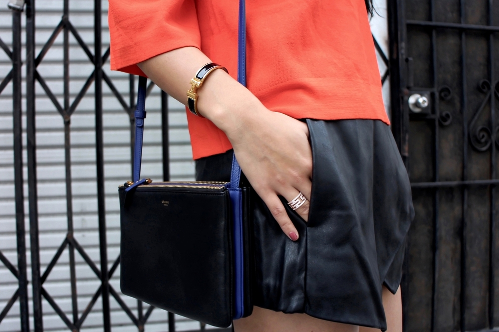 Just Goh With It-Outfit-Asos-Orange-Off-Shoulder-Top-Zara-black-Leather-Skirt-Skort-valentino-rockstud-flats-2.jpg