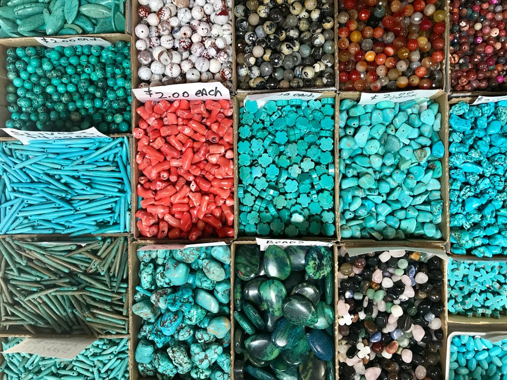 turquoisefor sale at the trading post. i bought a bunch that you will see transsformed into jewelry. soon on craft monkees!