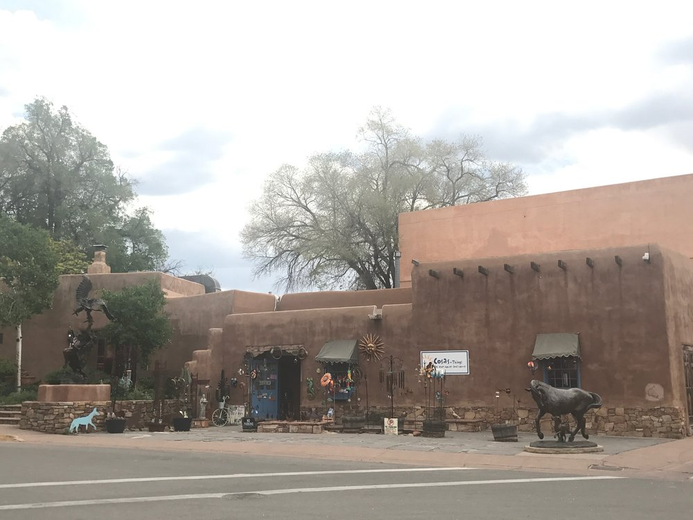 the streets of old town santa fe