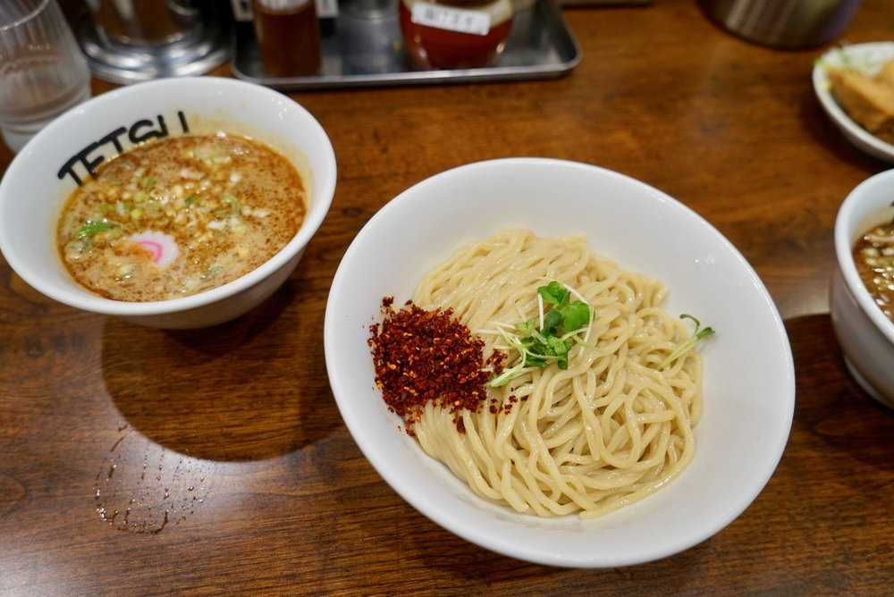tsukemen: Nodoles and broth are separated and you dip one into the other. Or go to  tsujita  if you're in LA : )