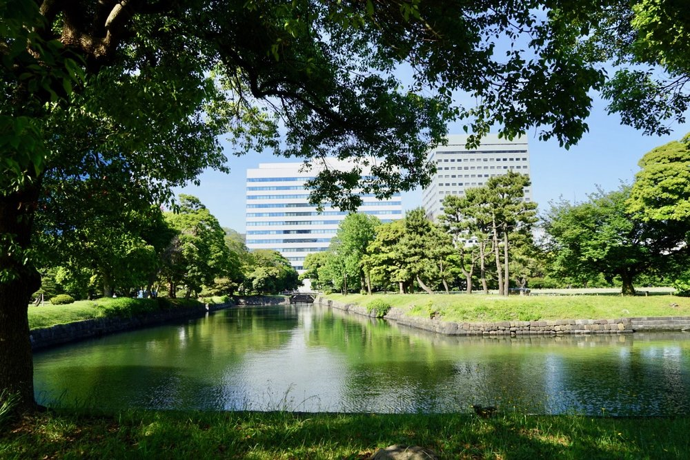 Beautiful  Hamarikyu Gardens