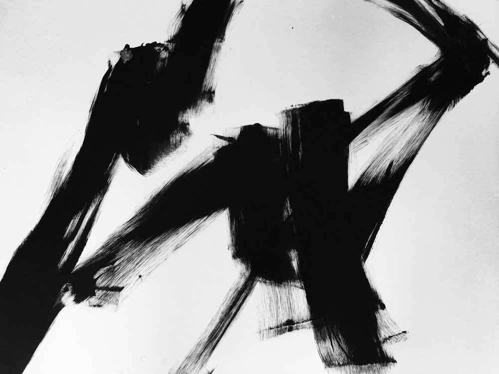 "Silence. 24""x18"". Acrylic on paper. 2017"