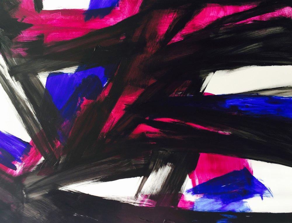 """Blinding Sunrise. 18"""" x 24"""". Acrylic on Panel. 2017"""
